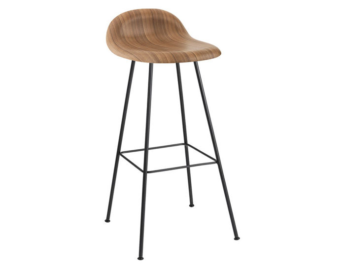gubi 3d center base wood stool