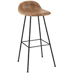 gubi 3d center base wood stool  -