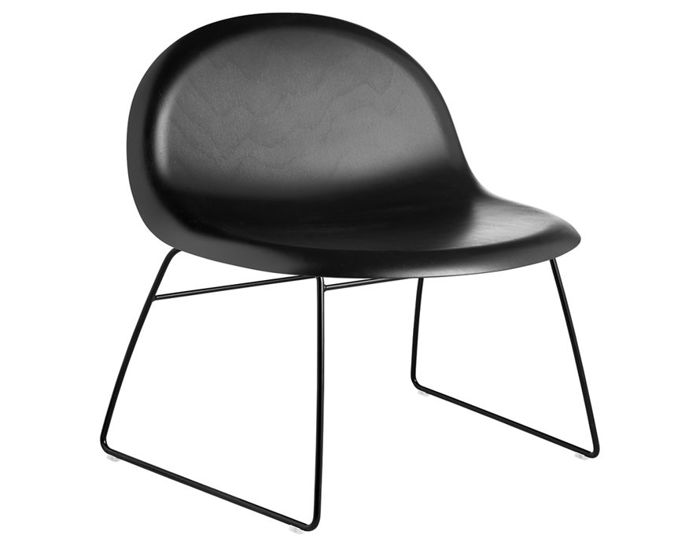 gubi 3d lounge chair with sled base