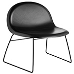 gubi 3d lounge chair with sled base  - gubi