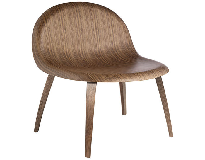 gubi 3d lounge chair with wood base