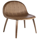 gubi 3d lounge chair with wood base  - gubi