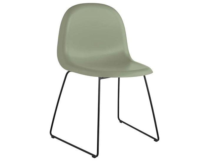 gubi 3d sled base hirek dining chair
