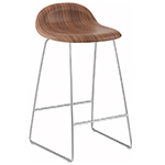 gubi 3d sled base wood stool  - gubi
