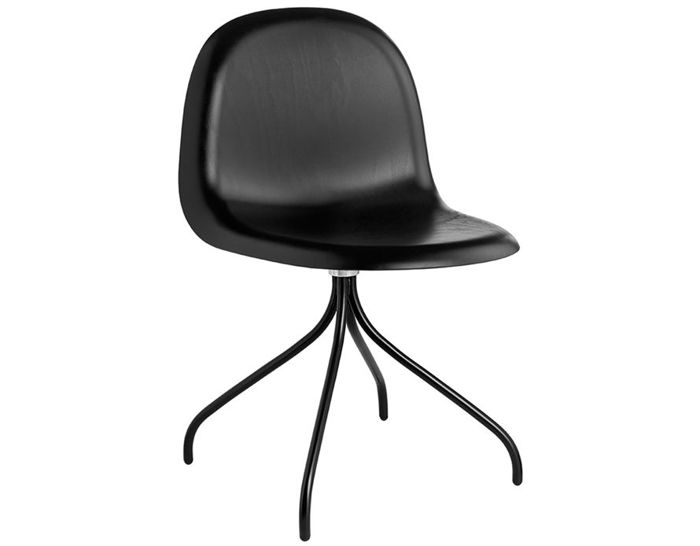 gubi 3d swivel base wood dining chair