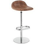 gubi 3d swivel base wood stool  -