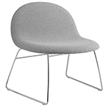 gubi 3d upholstered lounge chair with sled base  - gubi