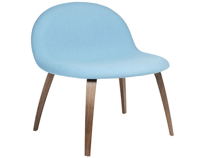 gubi 3d upholstered lounge chair with wood base