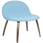 gubi 3d upholstered lounge chair with wood base  - gubi
