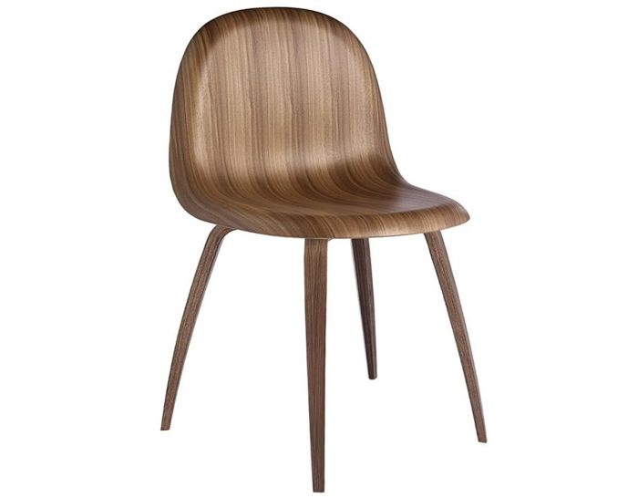 gubi 3d wood base chair