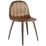 gubi 3d wood base chair  - gubi
