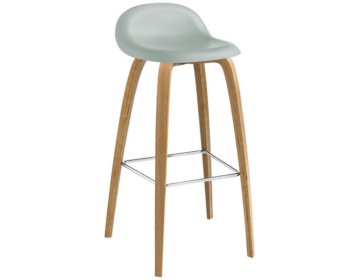 gubi 3d wood base hirek stool
