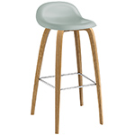 gubi 3d wood base hirek stool  - gubi