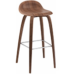 gubi 3d wood base stool  - gubi
