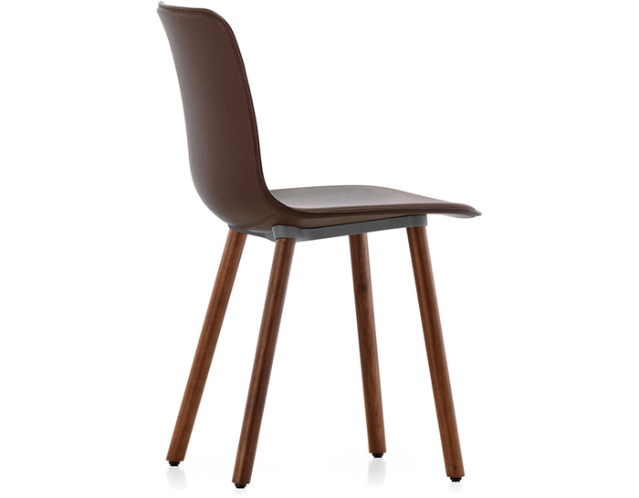 Superbe Hal Leather Wood Chair
