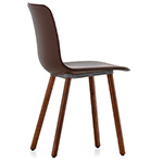 hal leather wood chair  -