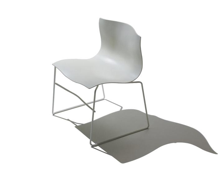 handkerchief stacking armless chair