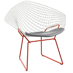 bertoia small diamond chair two tone with seat cushion  -