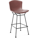 bertoia leather covered stool - Harry Bertoia - Knoll