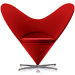 verner panton heart chair  -