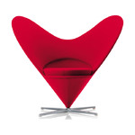 verner panton heart chair