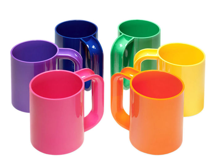 heller vignelli rainbow mug set of six