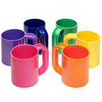 heller vignelli rainbow mug set of six  -