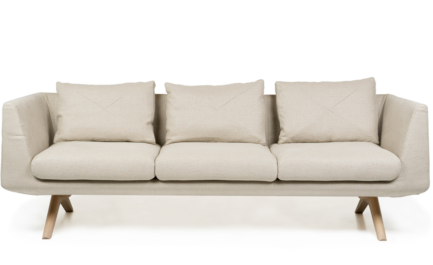 hepburn fixed 3-seater sofa 350fm