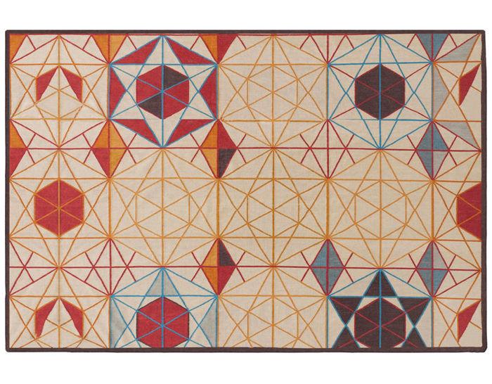 hexa rectangular rug