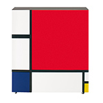 homage to mondrian cabinet  -
