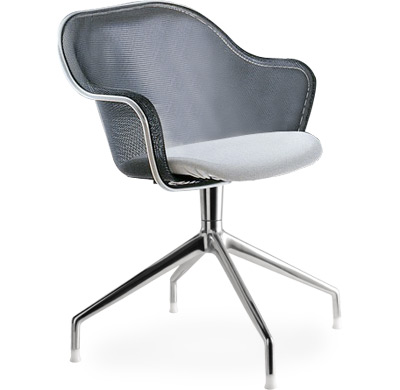 iuta 4 star base armchair with upholstered seat