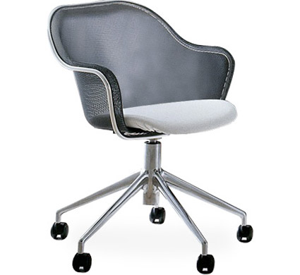 Iuta Swivel Task Chair With Upholstered Seat  sc 1 st  Hive Modern & Iuta Swivel Task Chair With Upholstered Seat - hivemodern.com