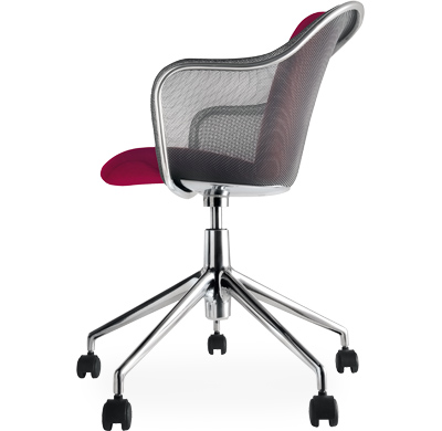 Iuta Swivel Task Chair With Upholstered Seat Hivemodern Com