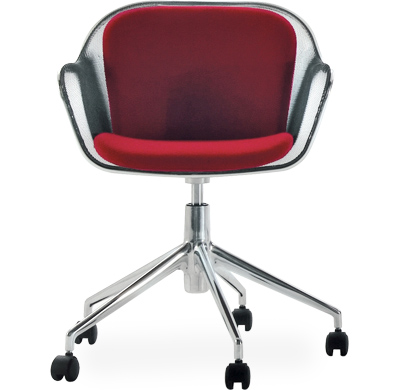 iuta swivel task chair with upholstered seat & back