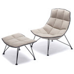 jehs+laub wire lounge chair & ottoman  -