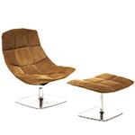 jehs+laub pedestal lounge & ottoman  -