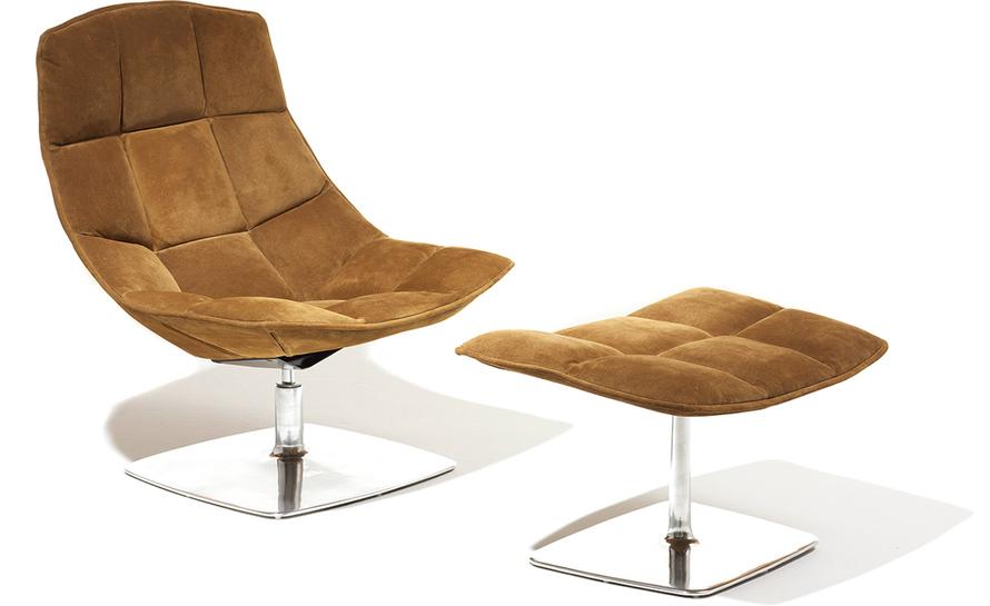 jehs+laub pedestal lounge & ottoman