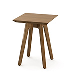 risom outdoor square side table - Jens Risom - Knoll