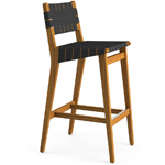 risom outdoor stool with webbed back  -