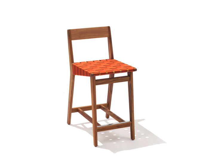 jens risom outdoor stool with wood back