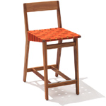 risom outdoor stool with wood back - Jens Risom - Knoll