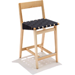 risom stool with wood back - Jens Risom - Knoll