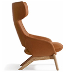 kalm wood base lounge chair  -