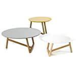 klara table with mdf top & beech base  -