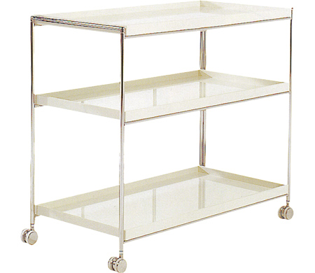 kartell trays 3 shelf trolley