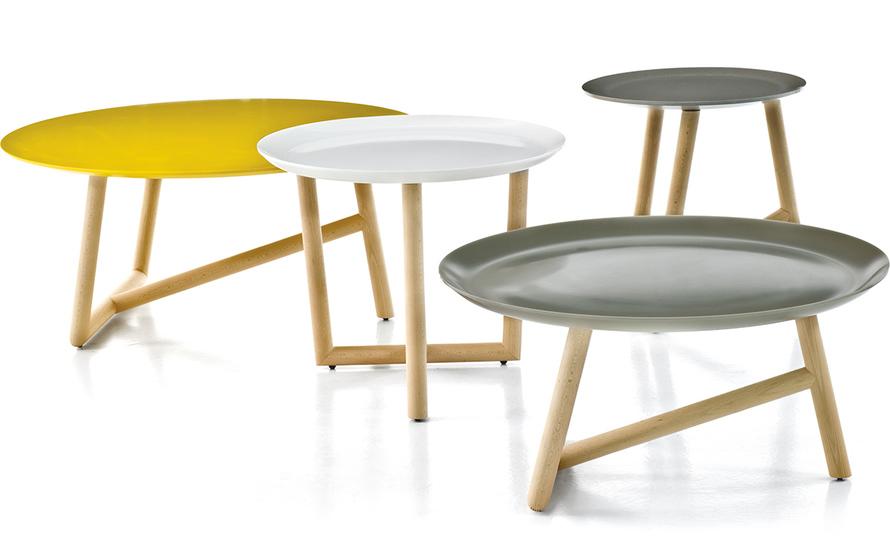 klara table with corian top & oak base