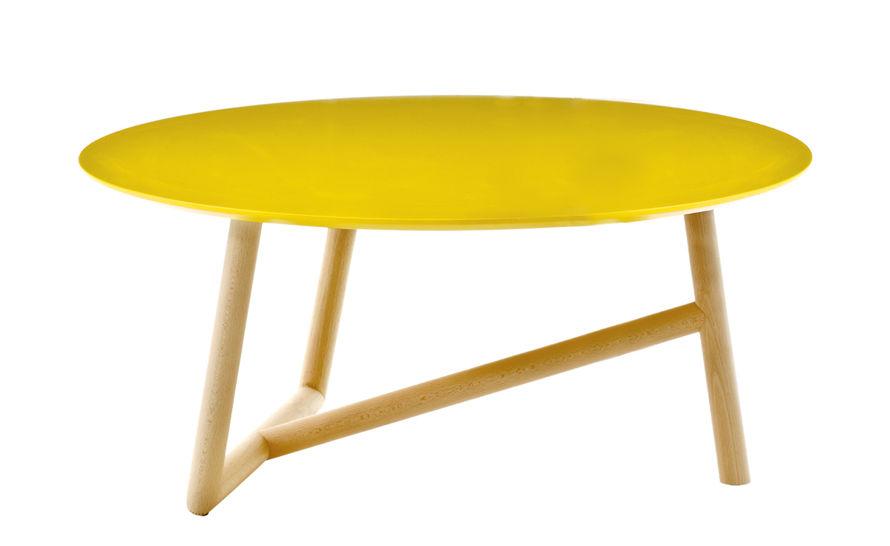 klara table with mdf top & beech base