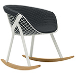 kobi rocking chair with large pad - Patrick Norguet - Alias