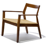 krusin lounge chair with woven seat
