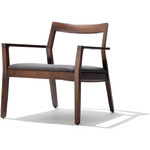 krusin lounge arm chair with upholstered seat
